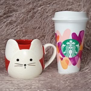 Starbucks Lunar New Year Mug & Hearts Cup